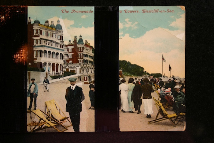 Elsewhere, 1942 postcard. black biro, 2009