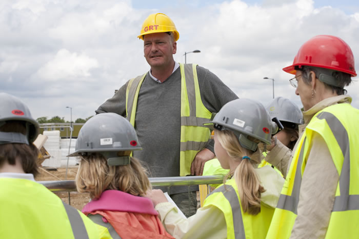 The Visits, school visit to Trumpington Meadows development, 2012