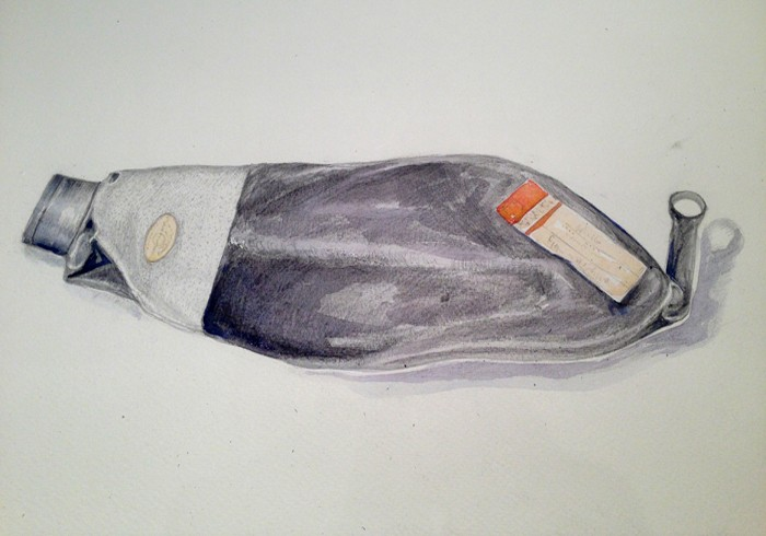 Oxygen Pump, pencil and watercolour on paper, 2015