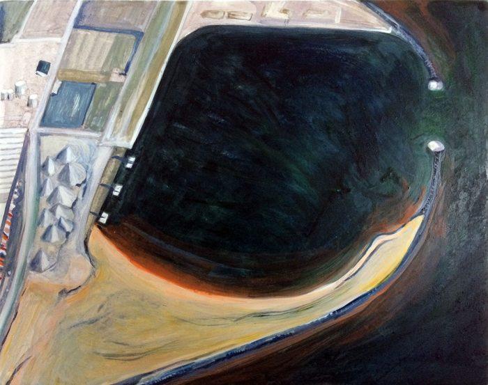 Black Sea I, egg tempera on board, 20 x 25 cms, 2018