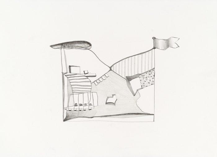 Atemporal IV,  pencil on paper, 2017