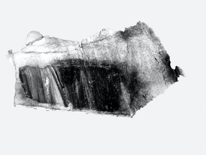 Sea painting II, 04.04.21, egg tempera on paper