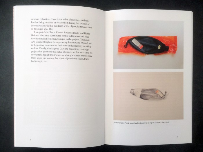 Sawdust and Threads: drawing, deconstruction and the object