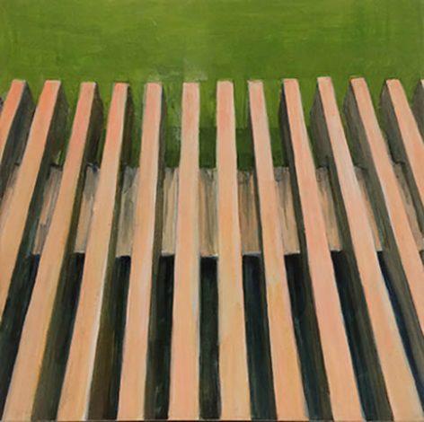 Lines, egg tempera on gessoed limewood, 20 x 20 cm, 2017