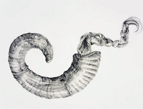 Assembly, graphite on paper, 57 x 38cm, 2016
