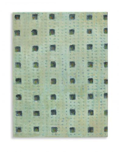 Grid, egg tempera on gessoed limewood, 20 x 15 cm, 2017