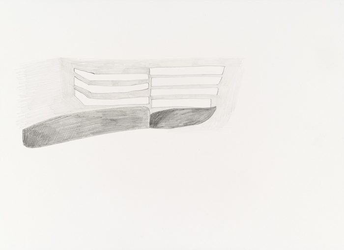 Walk 30.01.18  remembered 04.02.18,, pencil on paper, 2018