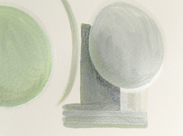 At the point of forgetting (detail), egg tempera on paper, 2018